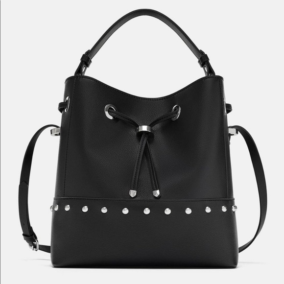 Zara Studded Bucket Bag